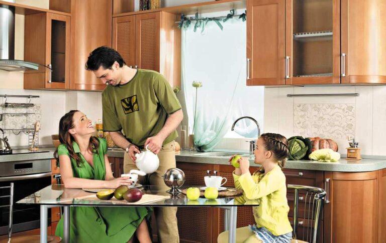 Теплая атмосфера на кухни